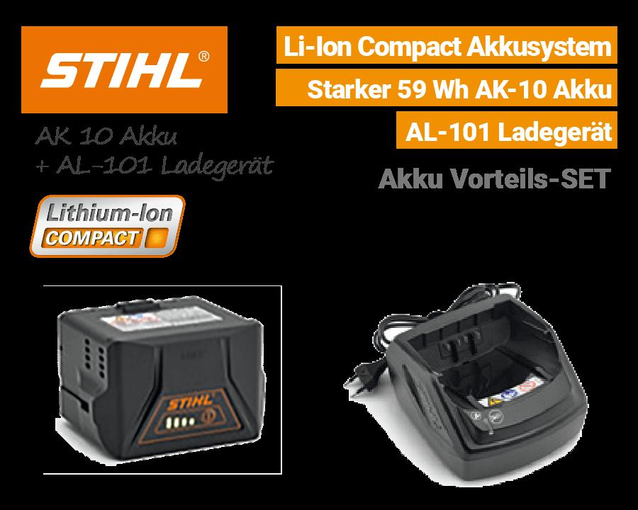 Stihl AK-10 Akku & AL-101 Ladegerät Li-Ion Compact EU9