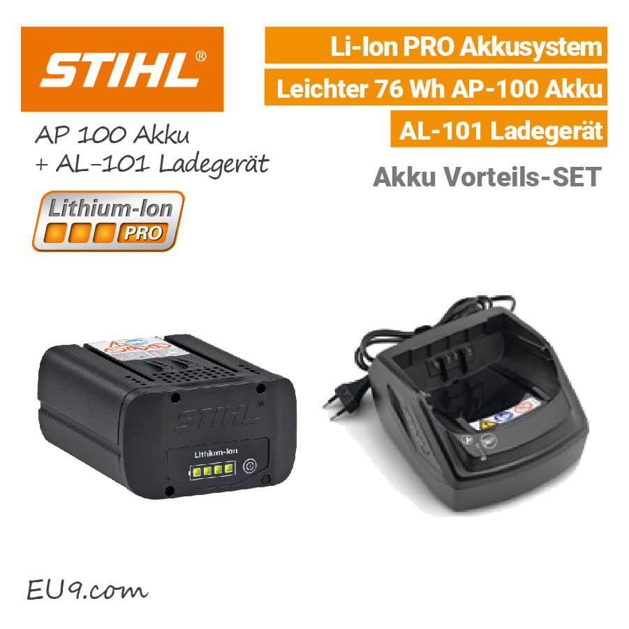 stihl ap 100 pro akku al 101 ladeger t vorteils set. Black Bedroom Furniture Sets. Home Design Ideas