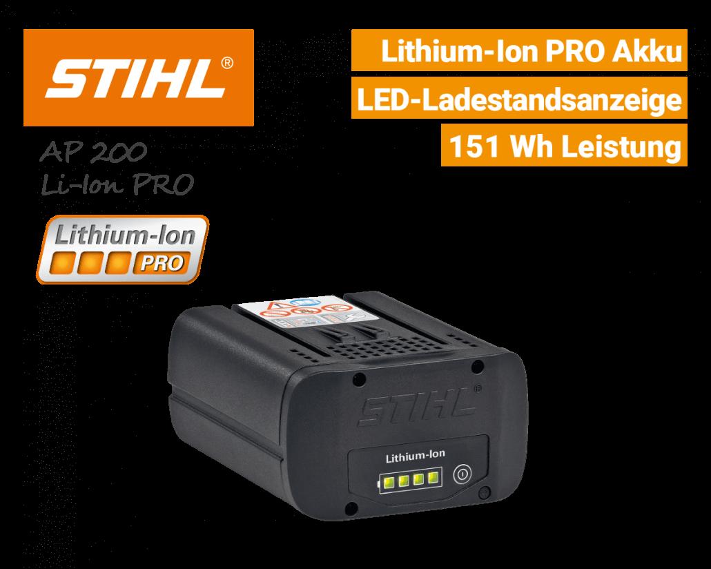 Stihl AP-200 Akku Lithium-Ion PRO EU9