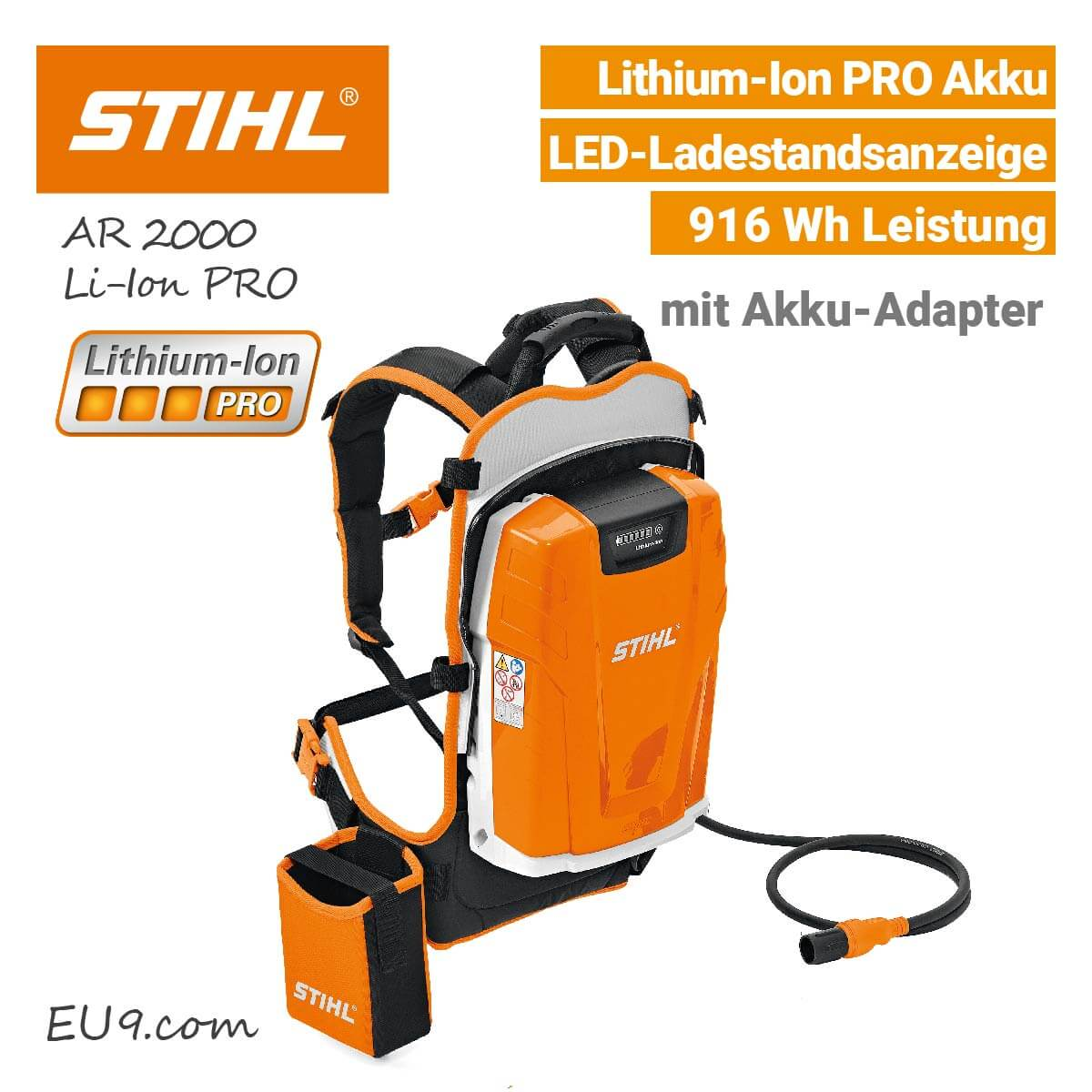 stihl ar 2000 lithium ion pro akku r ckengetragen bei eu9 kaufen. Black Bedroom Furniture Sets. Home Design Ideas
