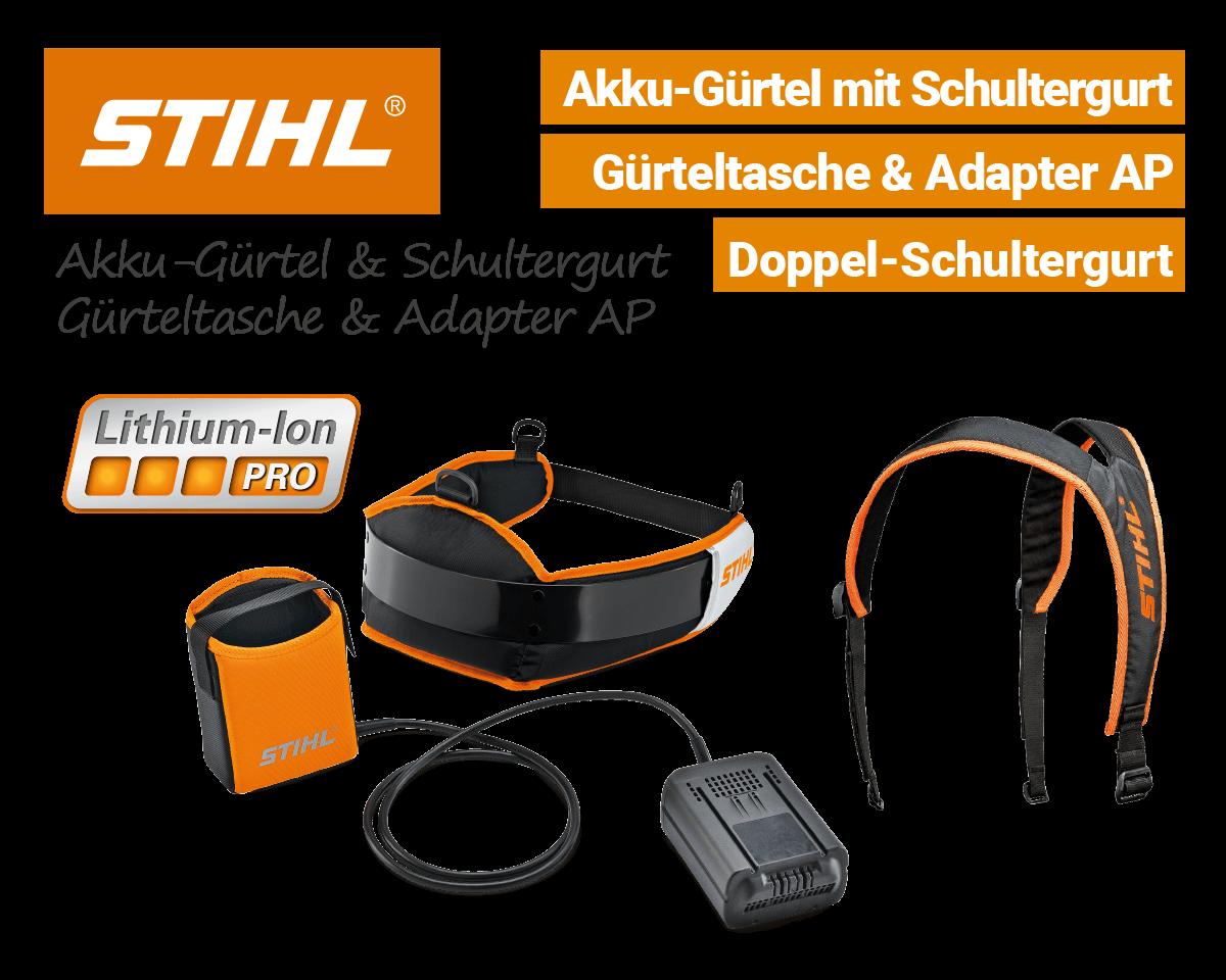 Stihl Akkugürtel mit Schultergurt Akkutasche Adapter-AP Li-Ion Pro EU9