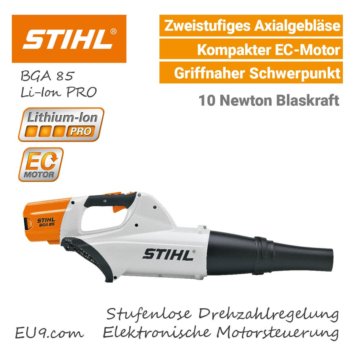 stihl bga 85 akku laubbl ser li ion pro bei eu9 kaufen. Black Bedroom Furniture Sets. Home Design Ideas
