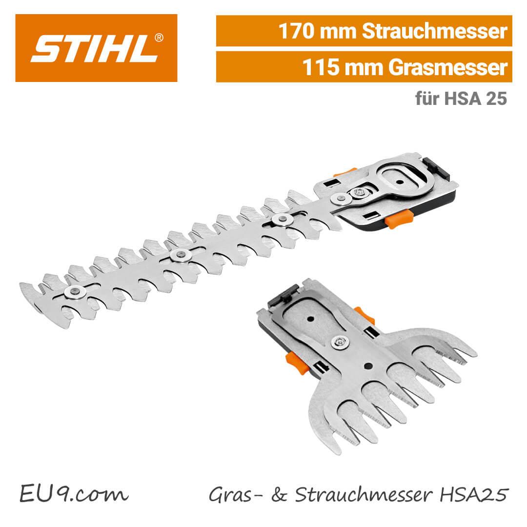 Stihl HSA 25 Akku-Strauchschere lasergehärtete Messer