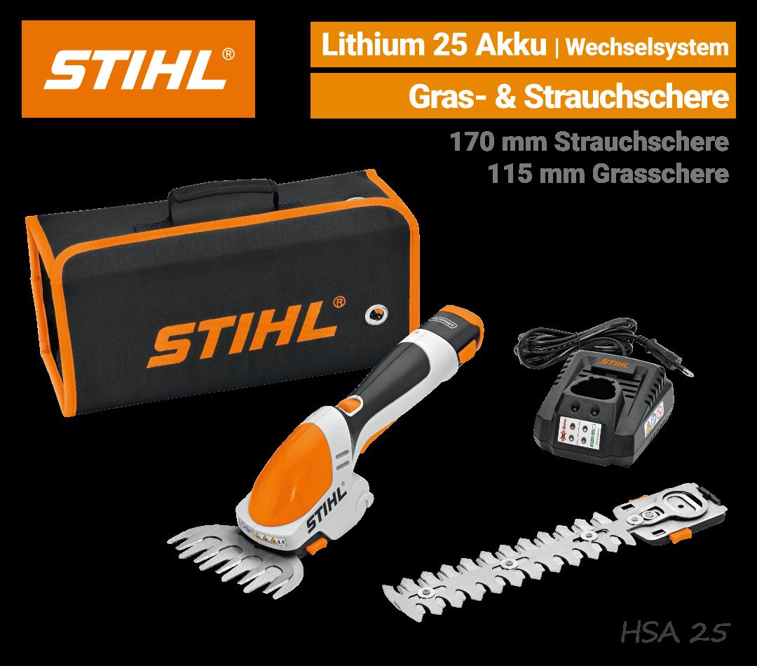 Stihl HSA 25 Akku-Grasschere-Strauchschere EU9