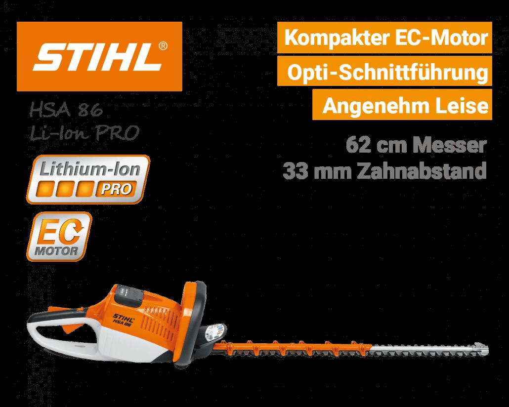 Stihl HSA 86 Akku-Heckenschere Lithium-Ion PRO - EU9