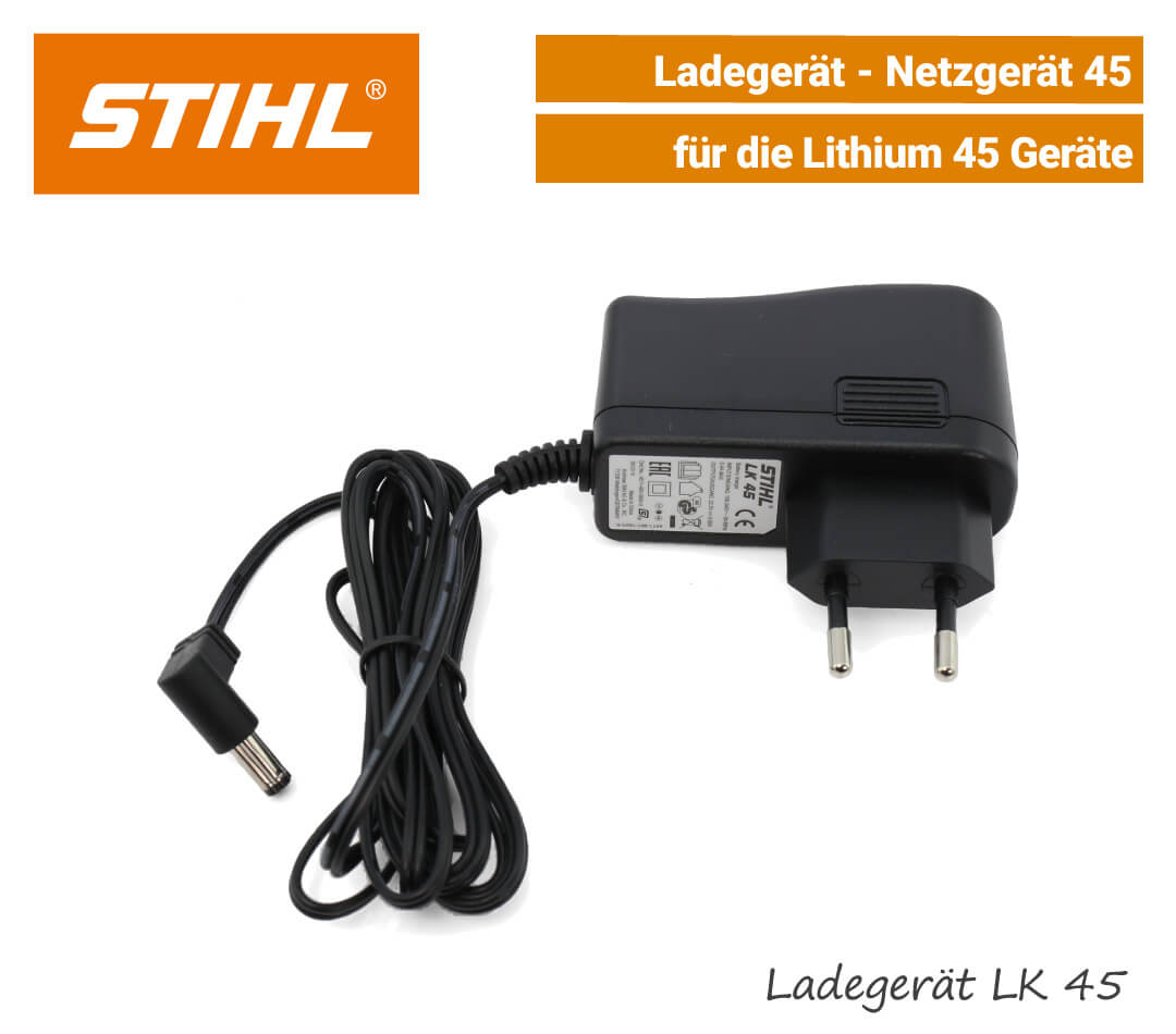Stihl Ladegerät 45 Netzgerät 45 LK-45 Lithium EU9