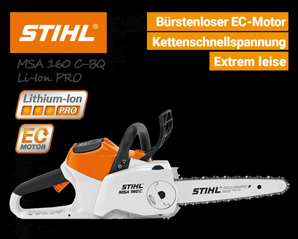 Stihl MSA 160 C-BQ Akku-Kettensäge-Motorsäge Lithium-Ion PRO