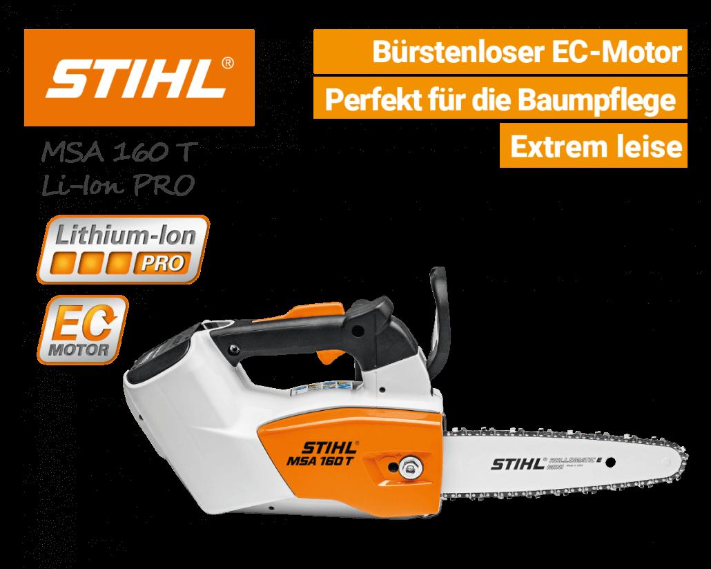 Stihl MSA 160 T Akku-Baumsäge-Kettensäge Li-Ion-PRO - EU9