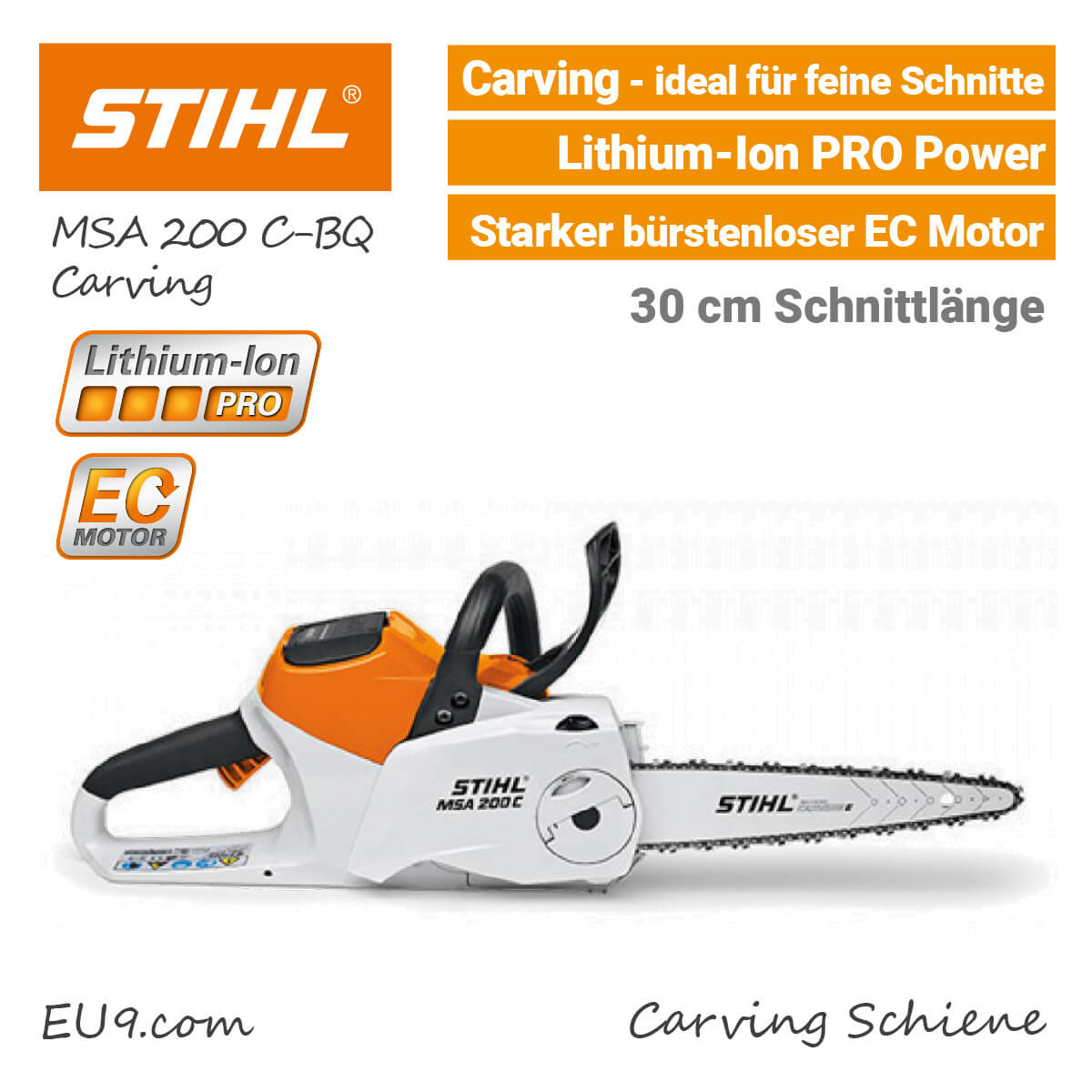 stihl msa 200 c bq carving kettens ge li ion pro jetzt kaufen. Black Bedroom Furniture Sets. Home Design Ideas
