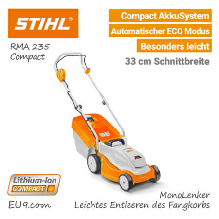 Stihl RMA 235 Akku Rasenmäher Compact EU9