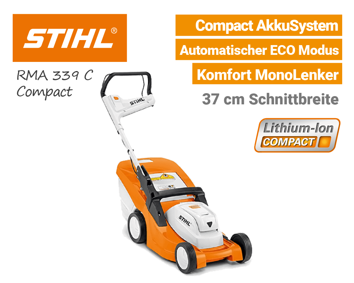 neu 2018 stihl compact akku gartenger te rasenm her g nstig. Black Bedroom Furniture Sets. Home Design Ideas