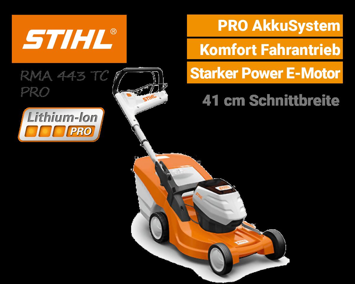 Stihl RMA 443 TC Akku Rasenmäher PRO AkkuSystem EU9