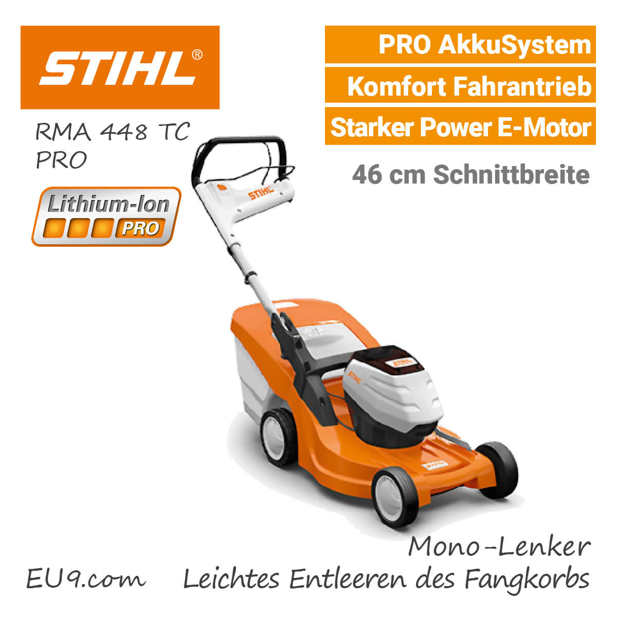 neu 2018 stihl rma 448 tc akku rasenm her pro akkusystem. Black Bedroom Furniture Sets. Home Design Ideas
