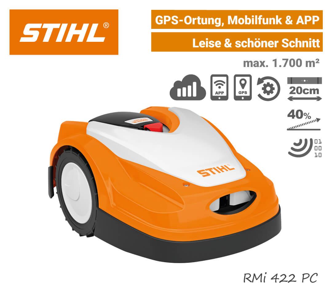 Stihl RMi 422 PC Mähroboter-Rasenroboter Mobilfunk GPS EU9