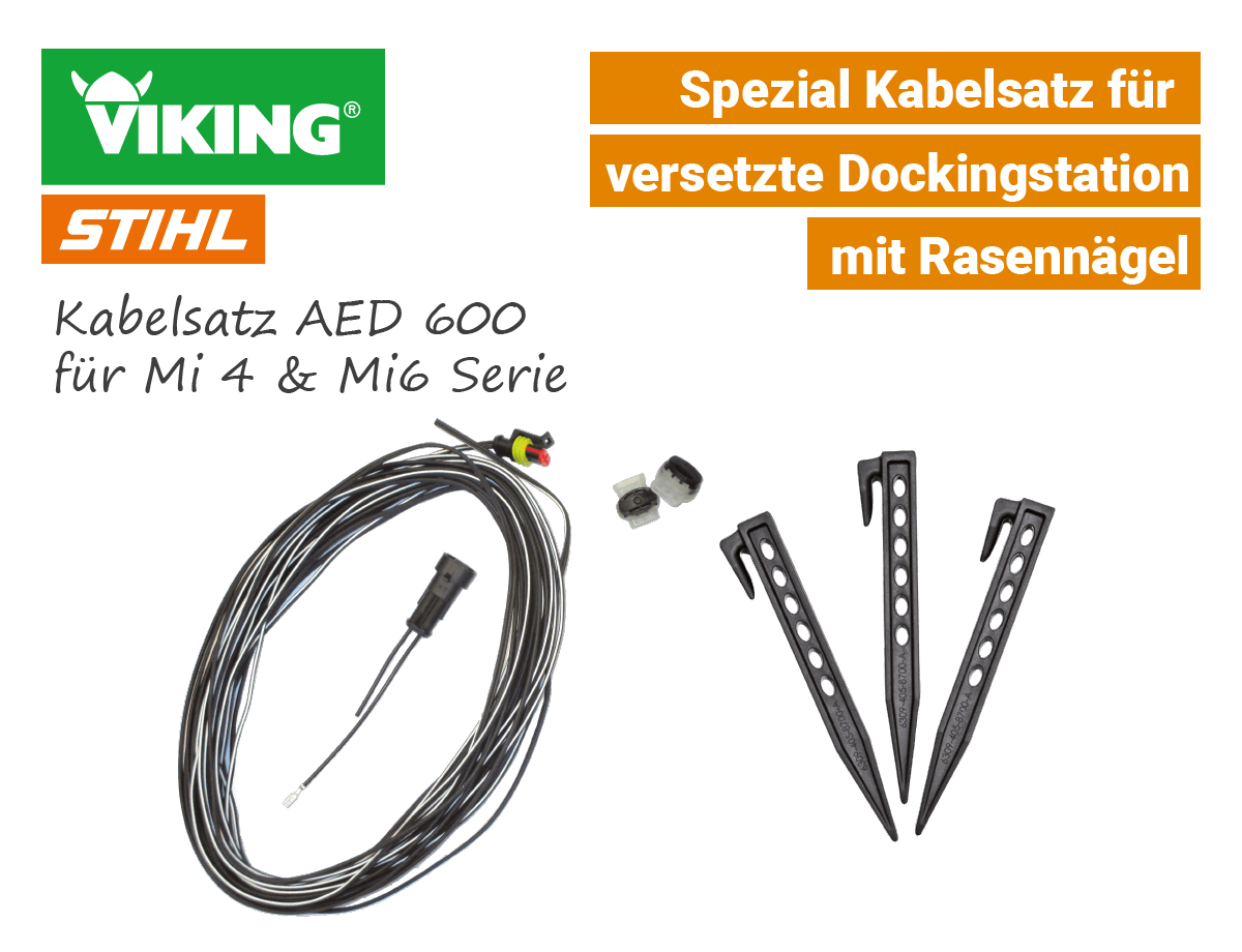Stihl-Viking AED 600 Kabelsatz für versetzte Dockingstation Ladestation IMow Mi 422 Mi 632 EU9