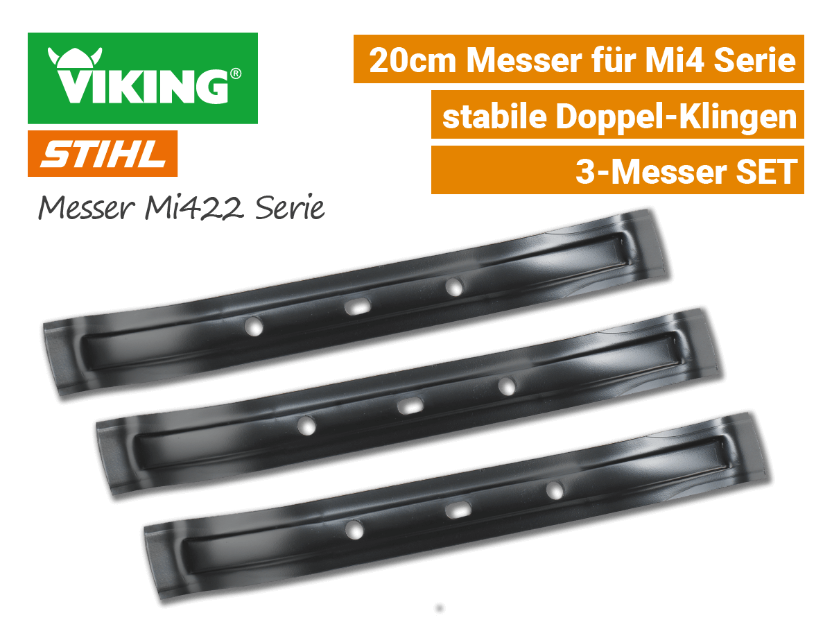 Stihl Viking Messer IMow Mi 422 - 3-Stk SET EU9