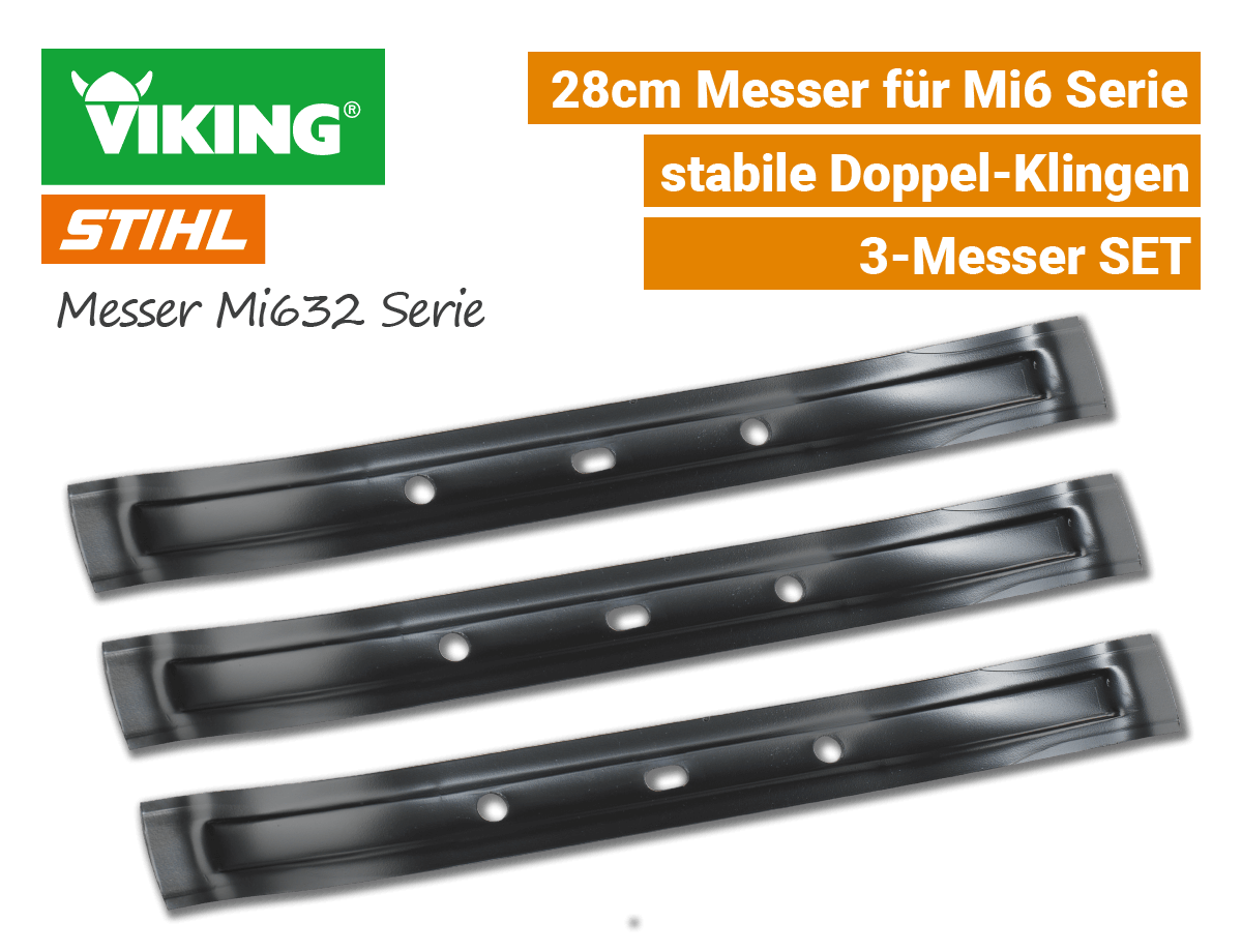 Stihl Viking Messer IMow Mi 632 3-Stk SET EU9
