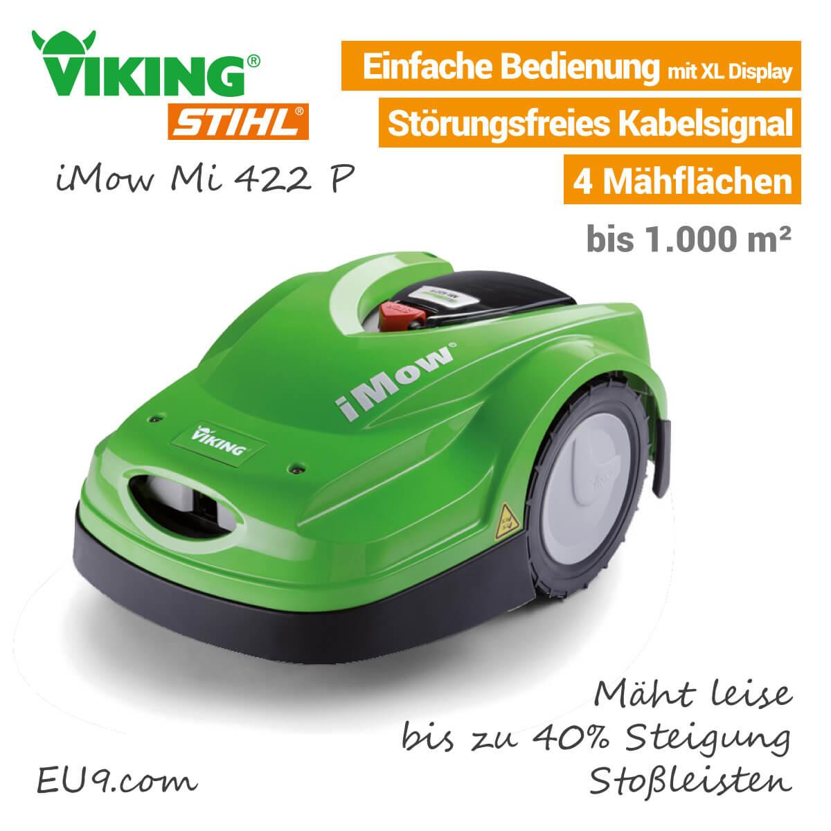 neu 2018 viking mi 422 p imow m hroboter bei eu9. Black Bedroom Furniture Sets. Home Design Ideas