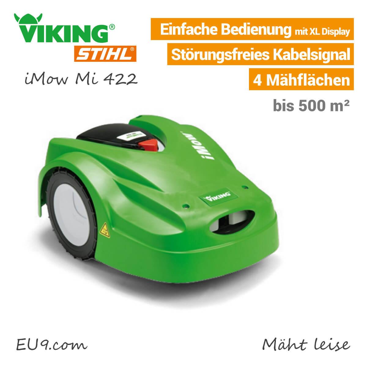 viking mi 422 imow rasenroboter bei eu9 robotics kaufen. Black Bedroom Furniture Sets. Home Design Ideas