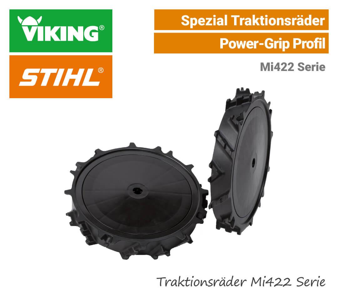 Stihl-Viking Traktions-Räder ART-220 Grip-Räder Mi422 RMi422 EU9