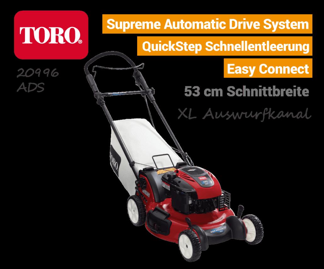 TORO 20996 Benzin-Rasenmäher Automatic-Drive-System ADS