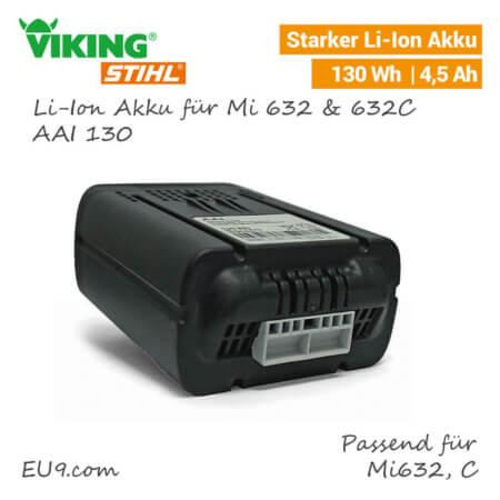 Viking Li-Ion Akku AAI-130 Mi 632 iMow 6309-400-6510