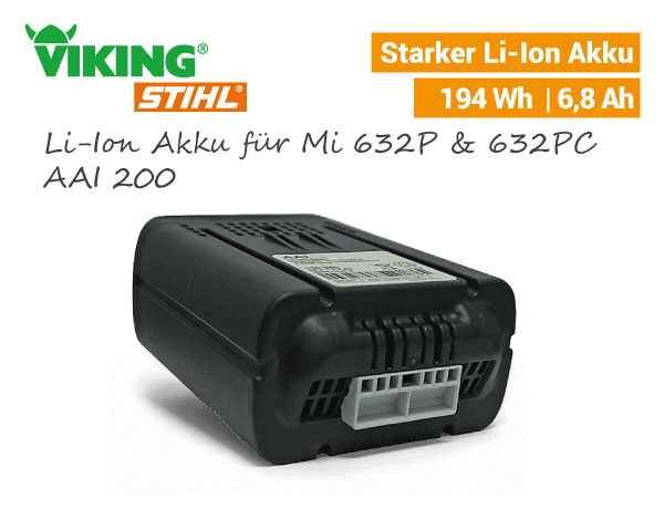 Viking Li-Ion Akku AAI 200 Mi 632 P iMow 6909-6309-400-6500