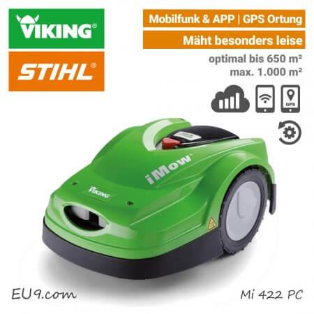 neu 2018 viking mi 422 pc imow m hroboter mit mobilfunk app. Black Bedroom Furniture Sets. Home Design Ideas