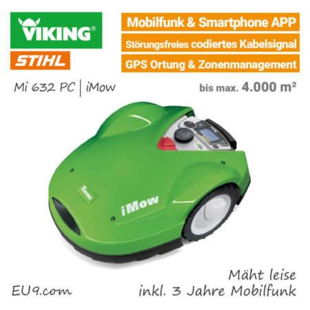 Viking Mi 632 PC iMow GPS Mobilfunk Rasenroboter-Mähroboter Stihl - EU9