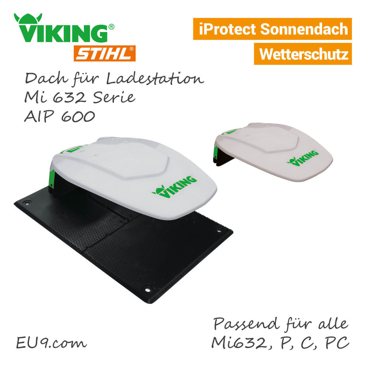 viking iprotect dach aip 600 m hroboter garage g nstig bei eu9 kaufen. Black Bedroom Furniture Sets. Home Design Ideas