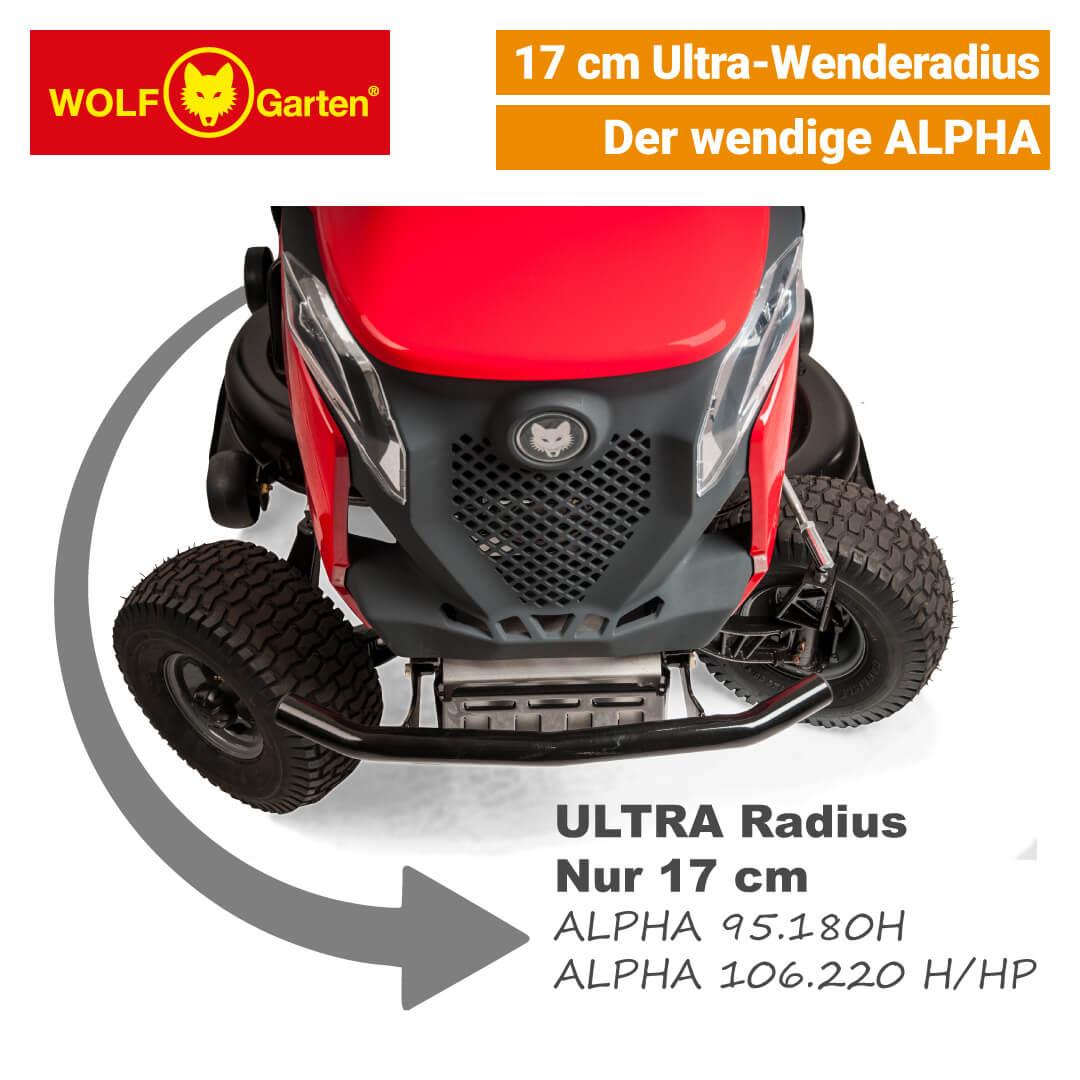 Wolf-Garten Alpha 106.220 HP V-Twin | 2-Zylinder Rasentraktor | NEU
