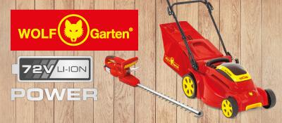 Wolf Garten 72V Akku-Rasenmäher Gartengeräte 72 Volt EU9