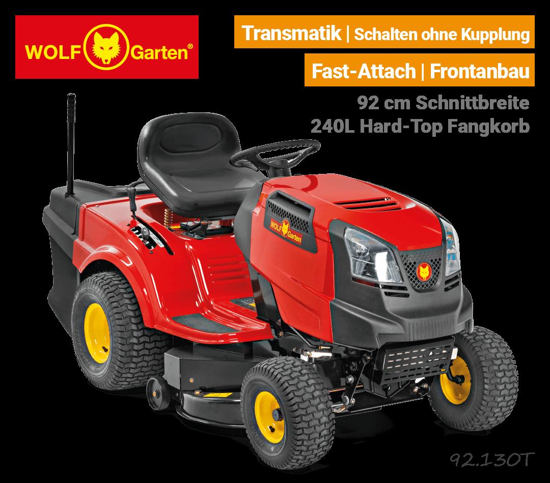 Wolf-Garten 92.130 T Transmatik Rasentraktor EU9