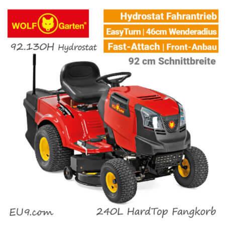 Wolf-Garten 92.130 H Hydrostat Rasentraktor Aufsitzmäher EU9
