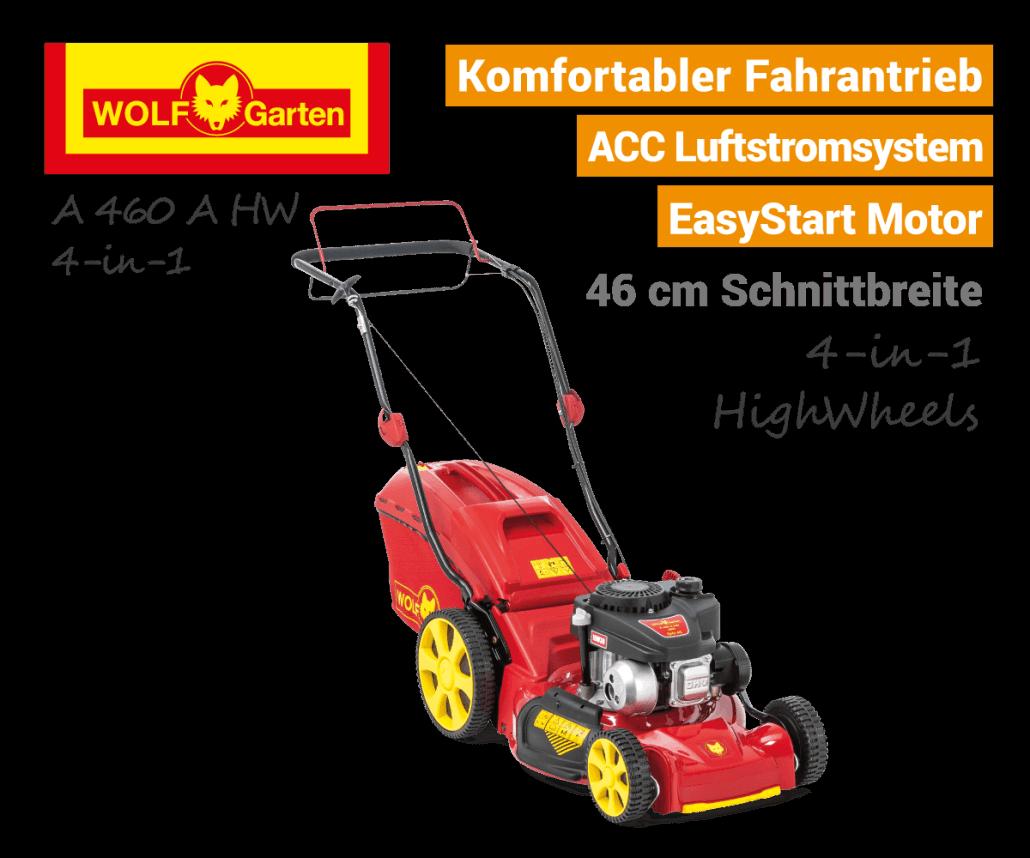 Wolf-Garten A 460 A HW 4-in-1 Benzin-Rasenmäher