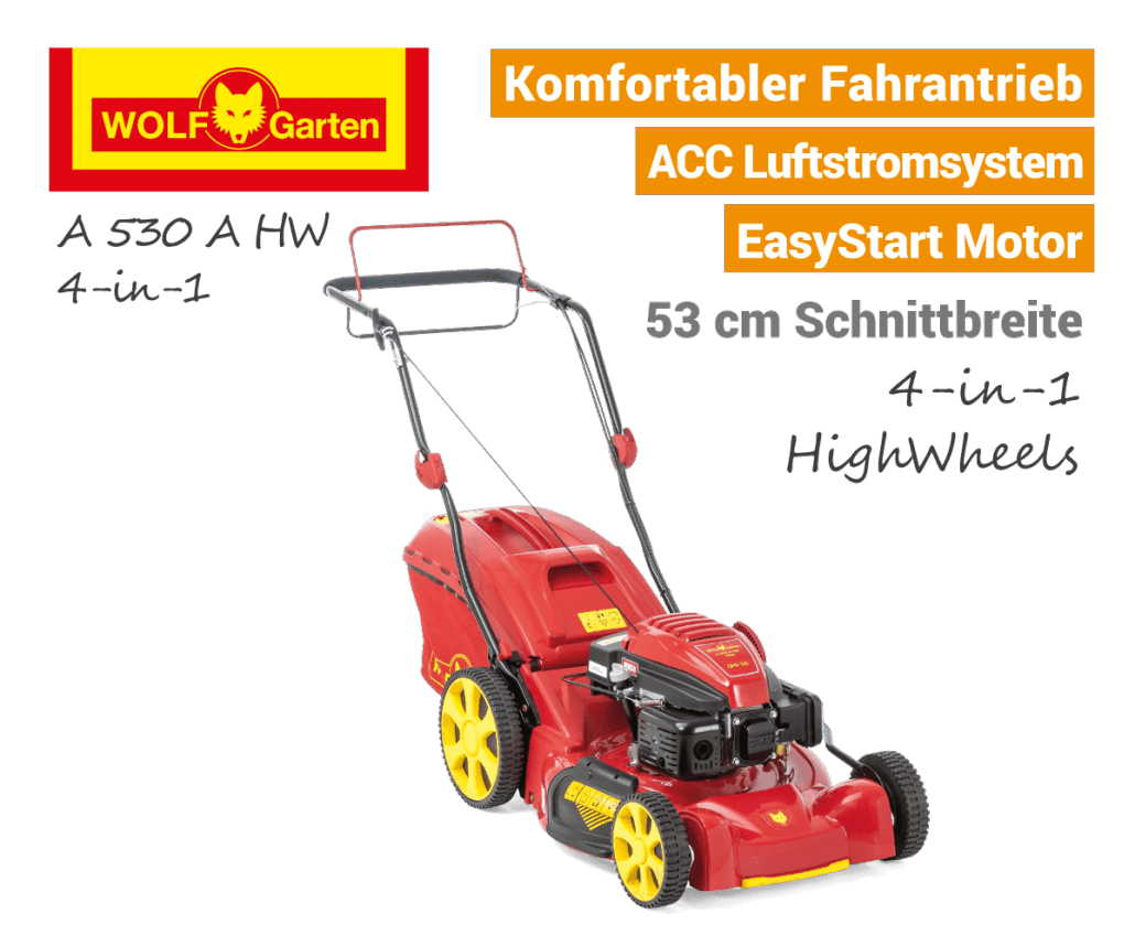 Wolf-Garten A 530 A HW 4-in-1 Benzin-Rasenmäher