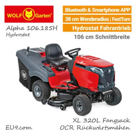 Wolf-Garten Alpha 106.185 H Hydrostat Rasentraktor - EU9