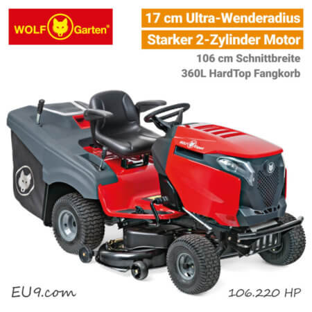 Wolf-Garten Alpha 106.220 HP 2-Zylinder Bluetooth Expert Rasentraktor EU9
