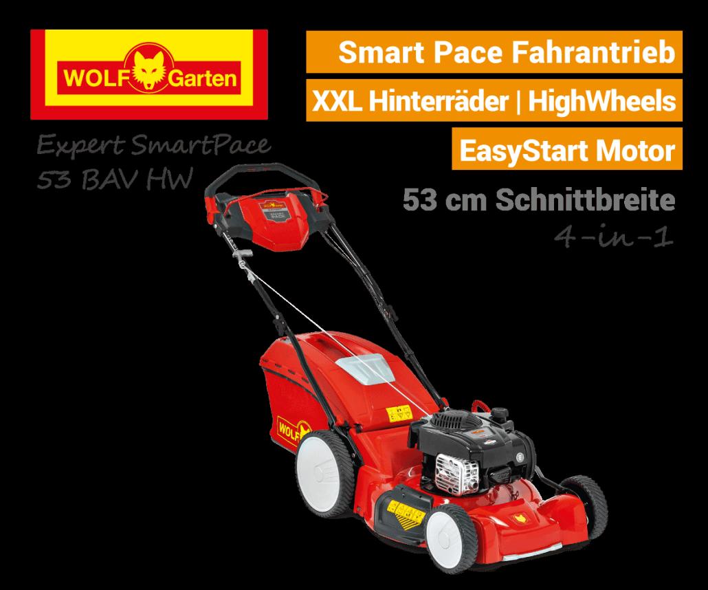 Wolf-Garten Expert Smart-Pace 53 BA V HW Benzin-Rasenmäher MySpeed