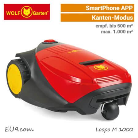 Wolf-Garten Loopo M 1000 Mähroboter-Rasenroboter SmartPhone-APP EU9