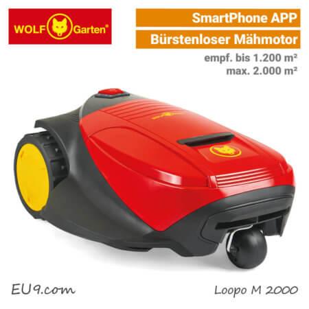 Wolf-Garten Loopo M 2000 Mähroboter-Rasenroboter SmartPhone-APP EU9