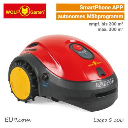 Wolf-Garten Loopo S 300 Mähroboter-Rasenroboter SmartPhone-APP EU9