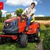 Wolf-Garten Rasentraktor 105.180 H 2-Zylinder Mann mit Traktor
