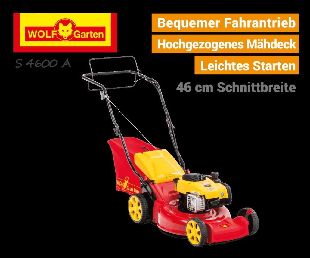 Wolf-Garten S 4600 A Antrieb Benzin-Rasenmäher