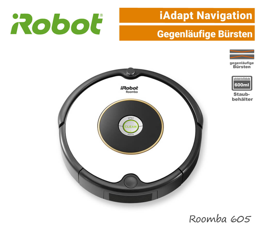 iRobot Roomba 605 Saugroboter iAdapt-Navigation EU9