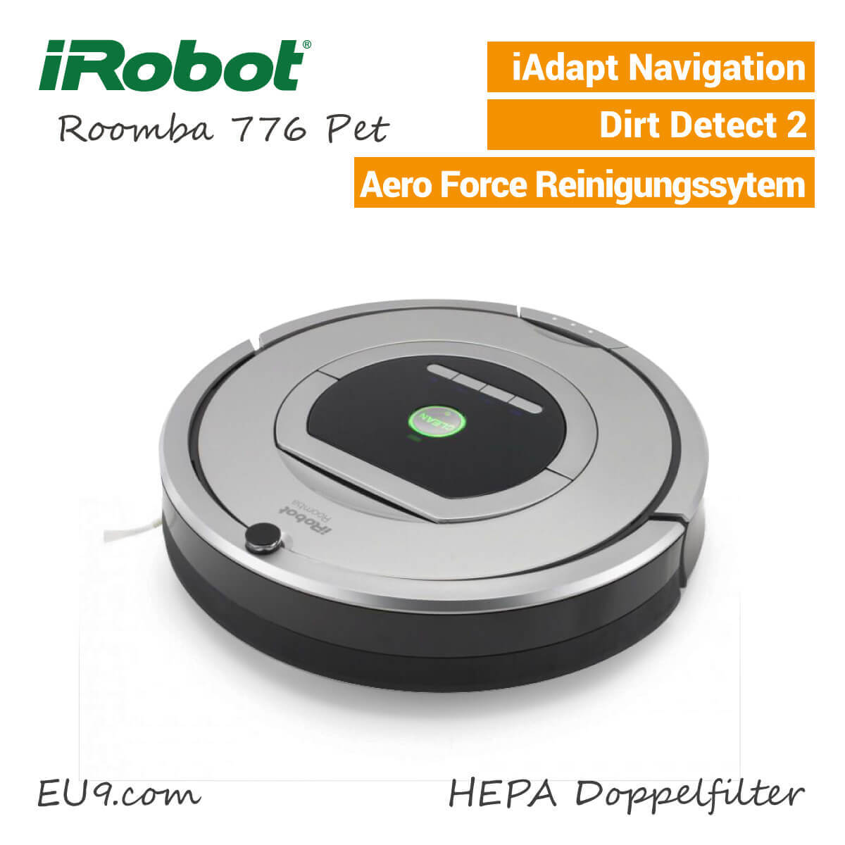 irobot roomba 776 pet eu9 robotics. Black Bedroom Furniture Sets. Home Design Ideas